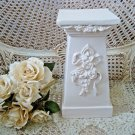 GORGEOUS PAINTED FRENCH ROSES & BOWS COLUMN DISPLAY PIECE **AWESOME**