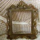 VINTAGE ORNATE FLEUR DE LIS METAL NB & IW  PICTURE FRAME ***AWESOME***