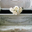 SHABBY LARGE FRENCH STYLE PLANTER BOX WITH BOWS & GARLANDS ***SO PRETTY***