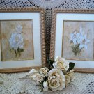 SET OF 3 LARGE BEAUTIFUL FLOWER FRAMED PICTURES WALL ART ***SO ELEGANT***