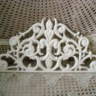 SHABBY FRENCH STYLE FLEUR DE LIS METAL PEDIMENT *HANG OVER A MIRROR OR DOOR