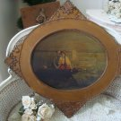 GORGEOUS  LARGE SHABBY WOODEN ORNATE FRAME  ***SO PRETTY***