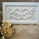 SHABBY FRENCH ORNATE PAINTED WALL PLAQUE ***SO PRETTY***
