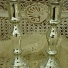 GORGEOUS REPRODUCTION MERCURY GLASS CANDLEHOLDERS