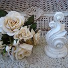 SHABBY PAINTED HEAVY SCROLLY FRENCH STYLE FINIAL DECOR ****CHIC****