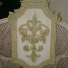 STUNNING LARGE FLEUR DE LIS WALL PLAQUE DECORATOR ITEM