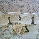 SET OF 4 FABULOUS SHABBY FRENCH ORNATE SHELL WALL SHELVES PEDESTALS ***PRETTY***