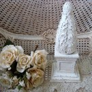 SHABBY PAINTED FRENCH STYLE LARGE DISTRESSED FINIAL DECOR **AWESOME***
