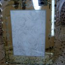 SHABBY ETCHED MIRROR PICTURE FRAME #6  VINTAGE FANCY EDGE