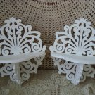 SHABBY PAIR OF PRETTY ORNATE SCROLLY WALL SHELVES ****BEAUTIFUL***