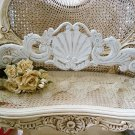 SHABBY PRETTY FRENCH SHELL PEDIMENT **GREAT OVER A DOORWAY OR MIRROR**
