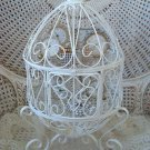 Romantic Homes Magazine Vintage French Style Scrolly Egg Display Cage **PRETTY**