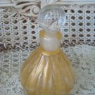 GORGEOUS GOLD MURANO GLASS PERFUME BOTTLE FROM ITALY #2 ****SO PRETTY****