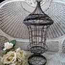 SHABBY RUSTY CRUSTY METAL GARDEN TOPIARY FORM FRAME ****AWESOME****