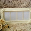 """#1 SHABBY FRENCH CHIC PICTURE FRAME HOLDS FOUR 4"""" x 6"""" PICTURES ****SO PRETTY***"""