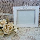 SHABBY FRENCH CHIC PRETTY ORNATE BOW PICTURE FRAME ***BEAUTIFUL***