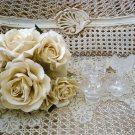TWO SHABBY FRENCH CHIC BOW PERFUME BOTTLES ****SO PRETTY****
