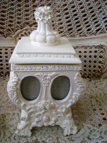 GORGEOUS SHABBY FRENCH ORNATE PHOTO HOLDER TRINKET BOX *****SO CUTE*****