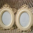 2 BEAUTIFUL SHABBY FRENCH CHIC BOW PICTURE FRAMES ***SO PRETTY****