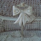 PRETTY SHABBY ORNATE METAL BOW RIBBON CANDLEHOLDER **AWESOME**