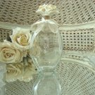 Pretty Vintage Perfume Bottle with Porcelain Roses Stopper #2