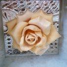 Exquisite 1980's Paper Rose in a Box **UNIQUE & SO PRETTY**
