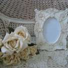 "SHABBY FRENCH ORNATE ROSES 4"" x 6"" PICTURE FRAME ****SO PRETTY***"