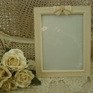 SHABBY FRENCH CHIC BOW WITH ROSE PICTURE FRAME **SO PRETTY**