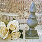 SHABBY FRENCH STYLE SILVER METAL FINIAL DECOR ***AWESOME***