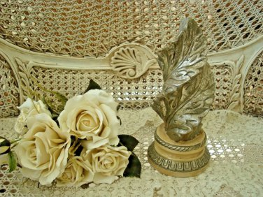 SHABBY FRENCH ORNATE SILVER ACANTHUS LEAF FINIAL DECOR ***AWESOME***