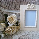 SHABBY FRENCH CHIC BOW RIBBON PICTURE FRAME ****SO CHARMING***