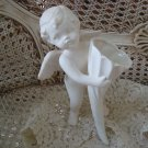Beautiful White Vintage Angel Cherub Figurine Standing **SO CUTE**
