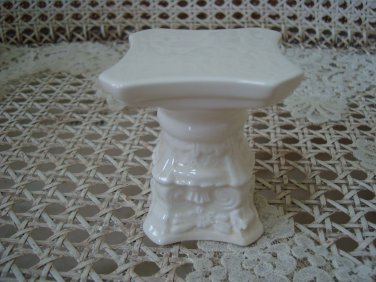 Vintage MINIATURE *Short* Ceramic COLUMN To Sit Miniature Cherub Angel On