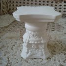 Vintage MINIATURE *Short* WHITE Ceramic COLUMN To Sit Miniature Cherub Angel On