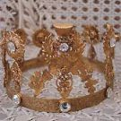 GORGEOUS VINTAGE INSPIRED FRENCH RHINESTONES CROWN