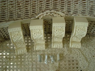FRENCH CHIC SET OF 4 FRENCH STYLE CORBELS DRAPERY BRACKETS ***SO PRETTY***