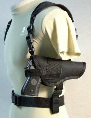 Black All American Shoulder Holster #15