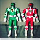 Two vintage power ranger figures