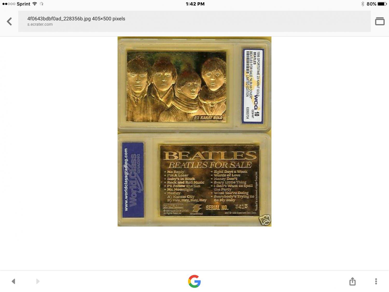 Beatles for sale album 23k got ld mint 10