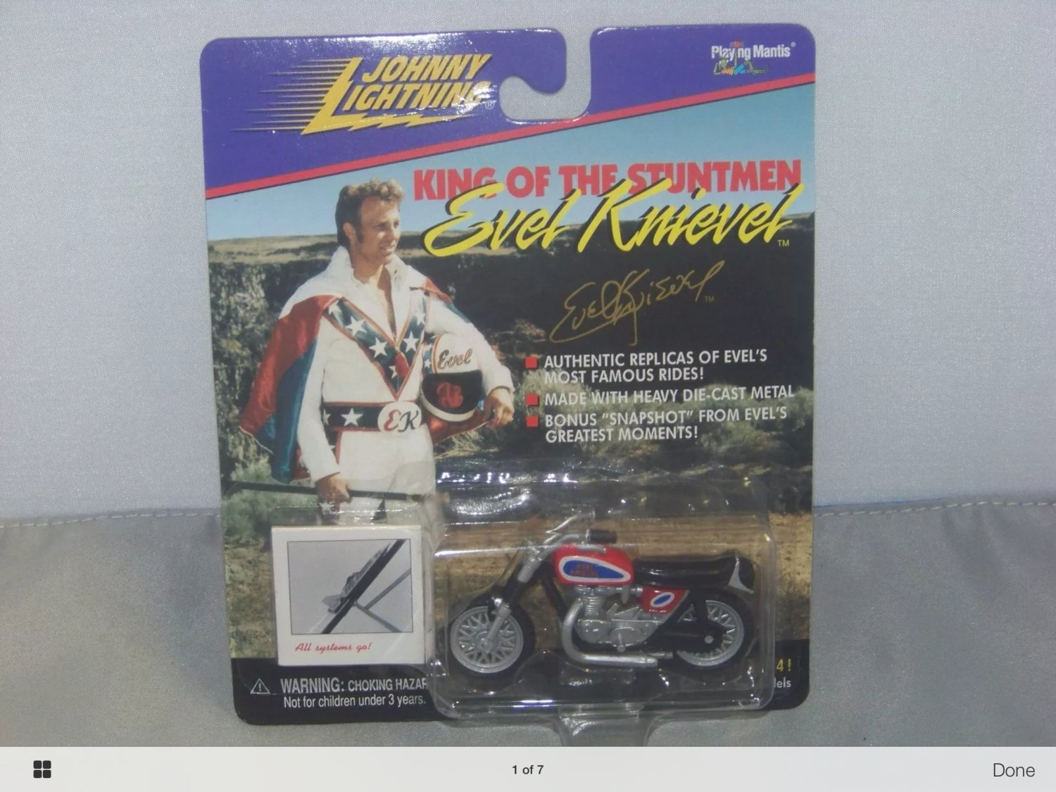 Johnny lightning evel knievel collectible