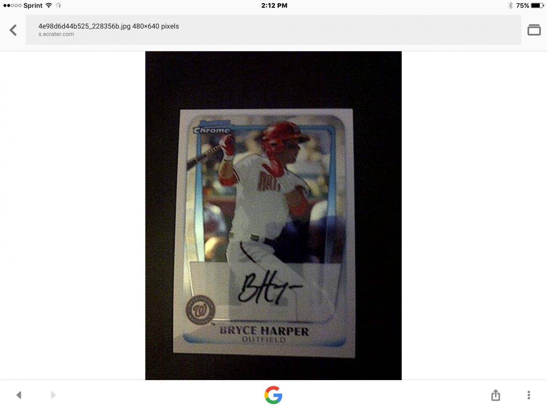 Bryce Harper baseball card
