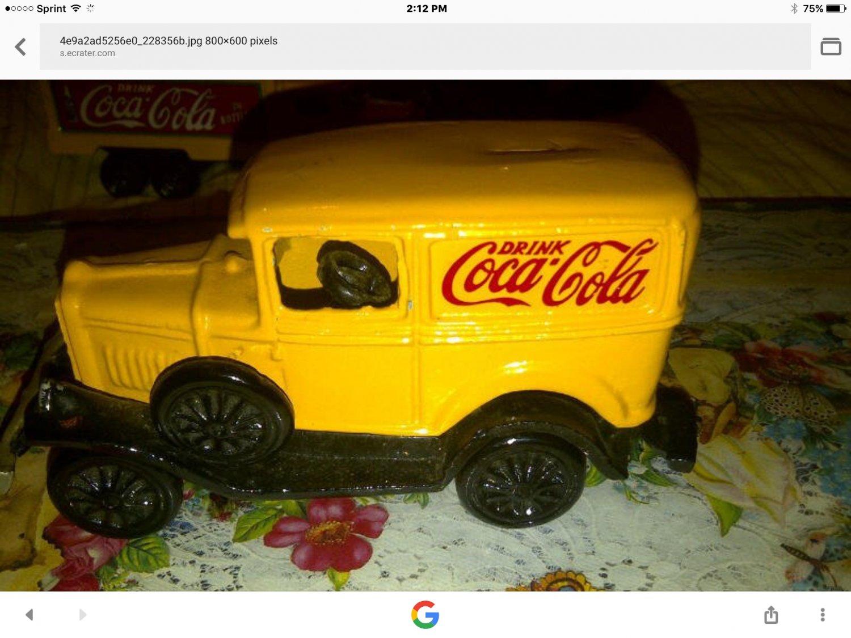 coke delivry van cast iron