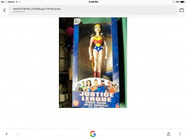 """wonder woman figure with truth lariat. 10"""""""