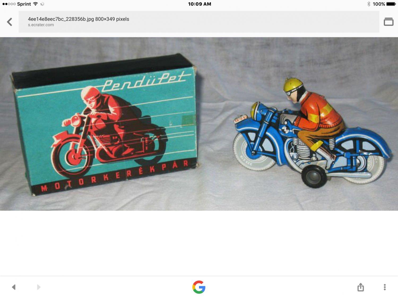 Tin metal friction toy