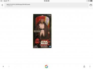 """Rare star wars 12"""" qui-don jinn"""