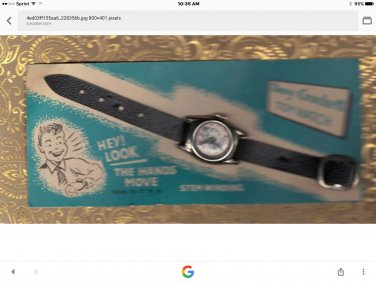 1950s David Crockett toy tin watch