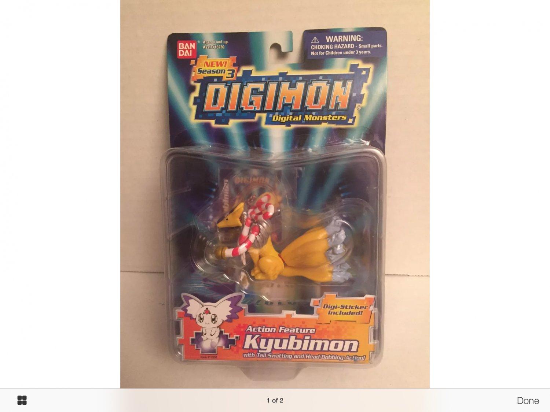 Extremely rare Digimon action figure kyubimon