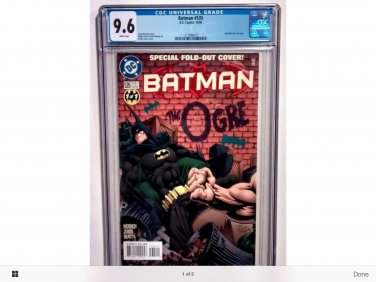 Batman #535 graded 9.6
