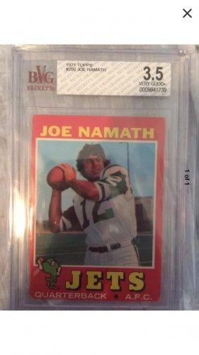 1971 joe namath card