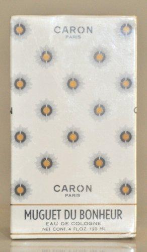 Caron Muguet Du Bonheur Eau de Cologne Edc 120Ml 4 Fl. Oz. Woman Rare Vintage Old 1952